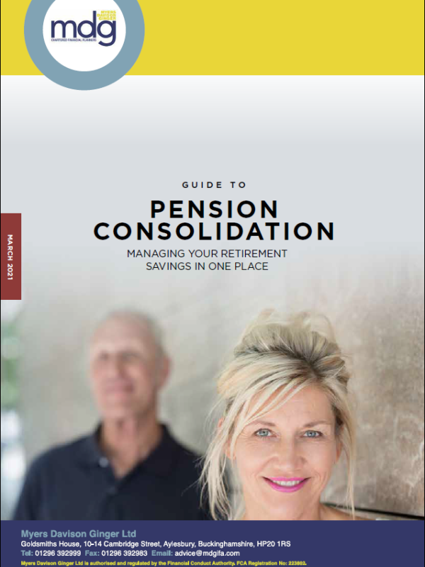 Guide to Pension Consolidation cover